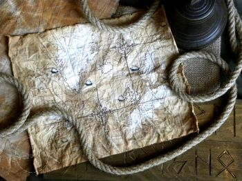 Vikings Discoveries Old Map - Nautical Art